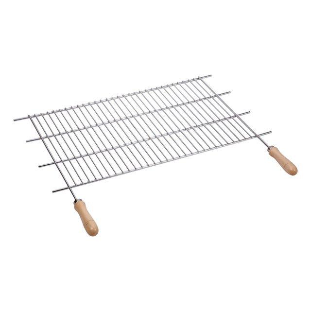 IMEX EL ZORRO 71514 Cassetto per barbecue in acciaio inox con griglia 50 x 40 x 33 cm